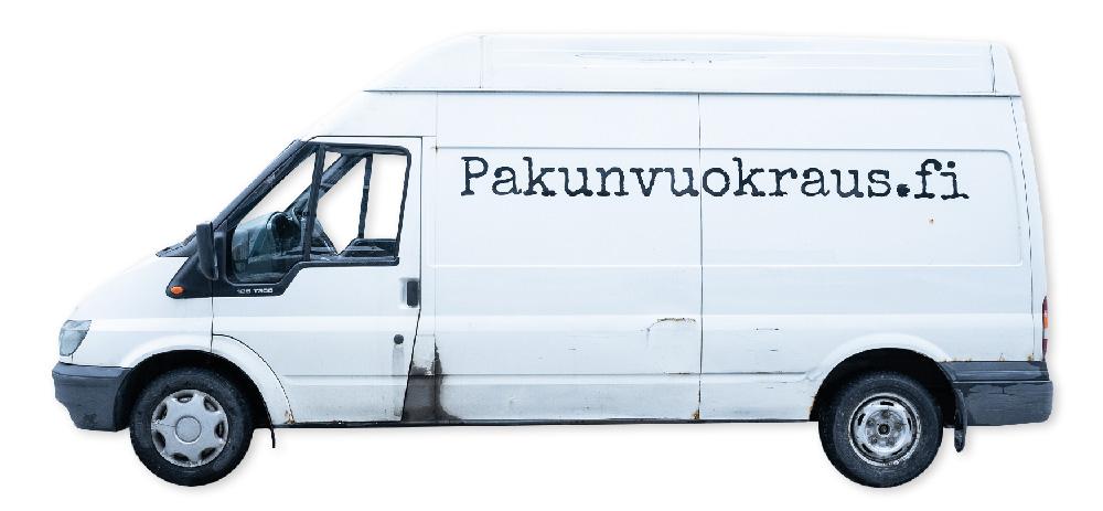 Pakunvuokraus.fi:n valkoinen korkea Ford Transit